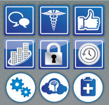 Custom icons created for medical web site.